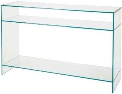Glass Minimalist Console Table Transparent