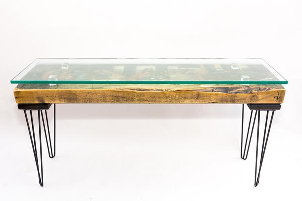 The Last Supper Console Table with Glass Top