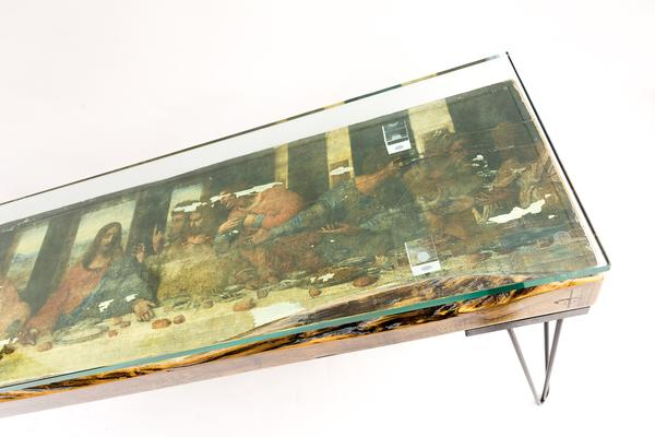 The Last Supper Console Table with Glass Top image 2