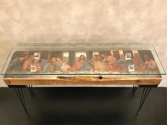 The Last Supper Console Table with Glass Top image 3