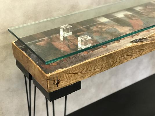 The Last Supper Console Table with Glass Top image 4