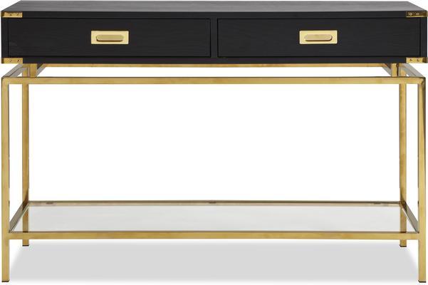 Genoa Modern Black Ash Console Table image 3