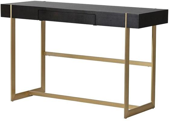 Morcott Black and Brass Desk Console Table