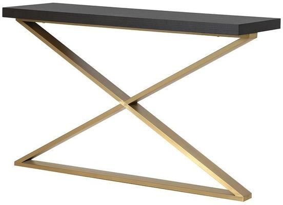 Morcott Storm Polished Steel X Frame Console Table image 2