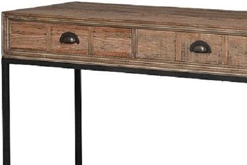 Greenwich Three Drawer Reclaimed Wood Console Table image 2