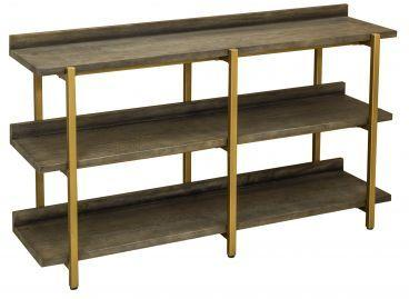 Fitzgerald Black And Gold Console Table / Shelf Unit image 2
