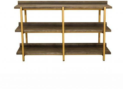 Fitzgerald Black And Gold Console Table / Shelf Unit image 3