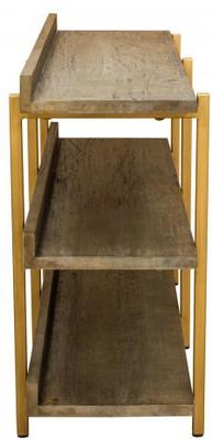 Fitzgerald Black And Gold Console Table / Shelf Unit image 4