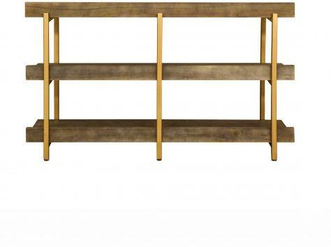 Fitzgerald Black And Gold Console Table / Shelf Unit image 5
