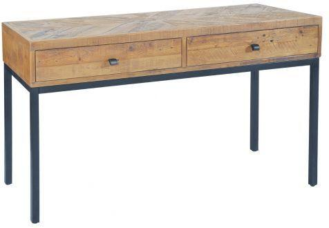 Thorpe Parquet Two Drawer Console Table