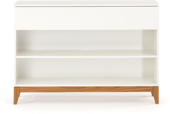 Blanco console bookcase