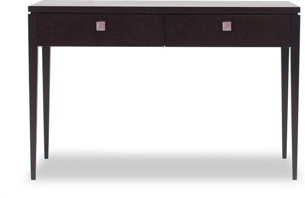 Roma Black Console Table Two Drawers image 2