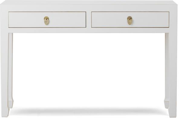 Classic Chinese Large Console Table - white
