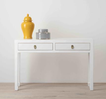 Classic Chinese Large Console Table - white image 2