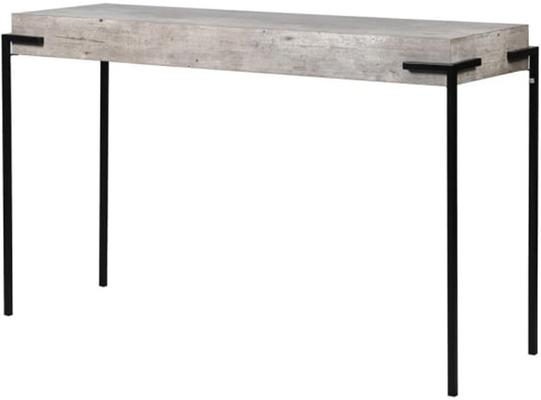 Brunswick Concrete Effect Console Table with Iron Legs