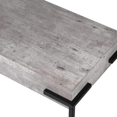 Brunswick Concrete Effect Console Table with Iron Legs image 2