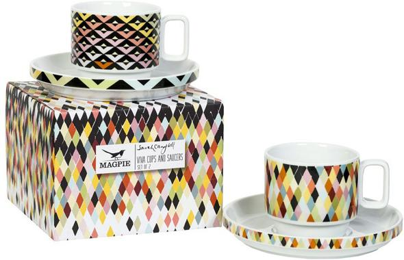Viva Cup and Saucer Duo - Chevron image 3