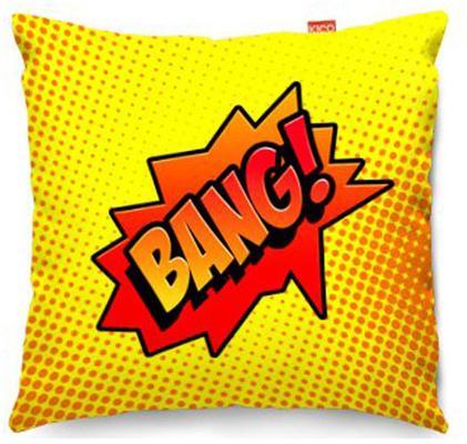 Comic Bang Yellow Sofa Cushion