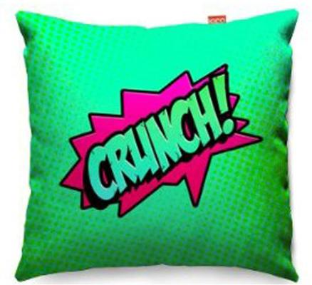 Comic Crunch Green Sofa Cushion