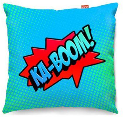 Comic Ka-Boom Blue Sofa Cushion