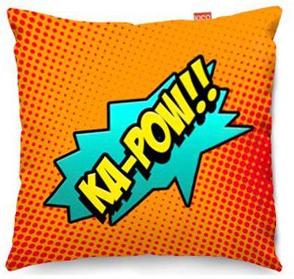 Comic Ka-Pow Orange Sofa Cushion