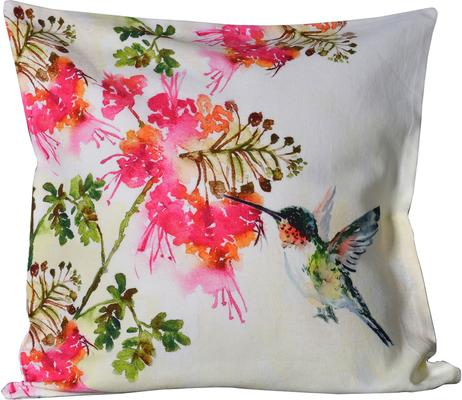 Hummingbird Print Cushion Cover