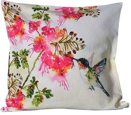 Hummingbird Print Cushion Cover image 2