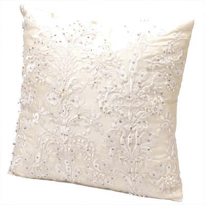 Beaded Cushion in Cream