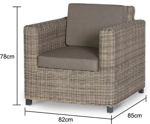 Chunky Rattan Outdoor Armchair image 2