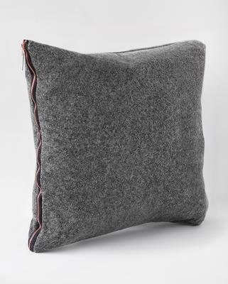 Pure wool felt cushion - Charcoal Grey & Copper image 2