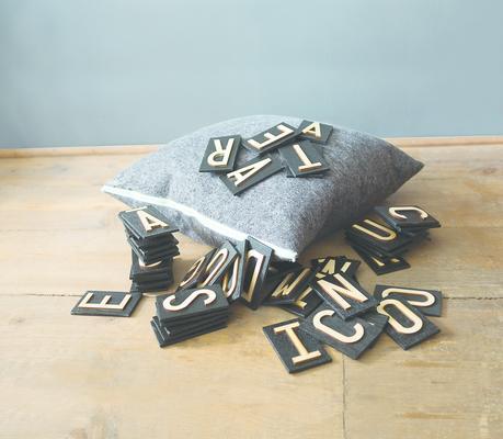 Pure wool felt cushion - Charcoal Grey - Coloured Zips image 5