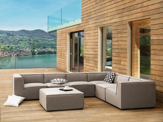 AREZZO Outdoor 7 Piece Sofa Set Light Beige or Grey image 2