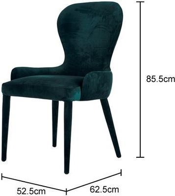 Spoon Back Dark Velvet Chair image 2