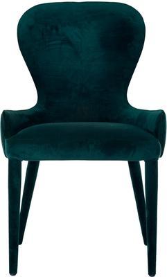 Spoon Back Dark Velvet Chair image 3