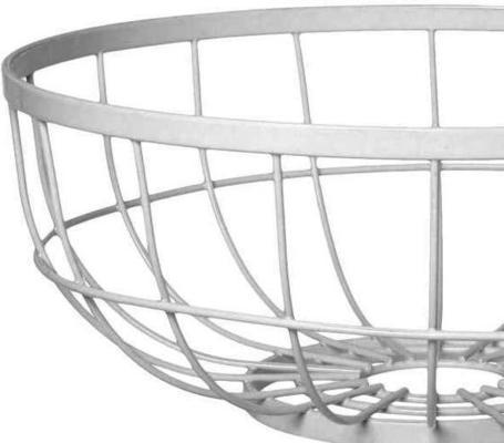 Present Time Open Grid Fruit Basket - White image 2