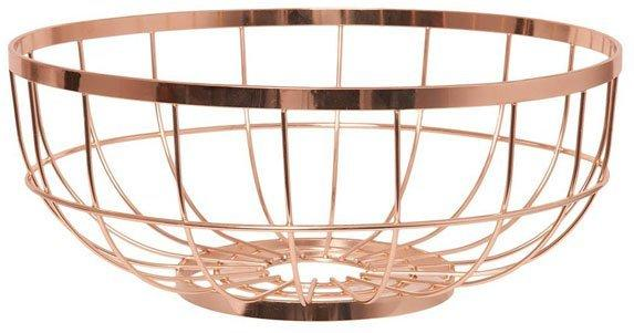 Present Time Open Grid Fruit Basket - Copper