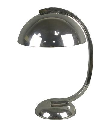 Nickel Dome Desk Lamp