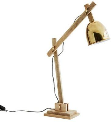 Wood and Wingnut Desk Lamp Contemporary image 2