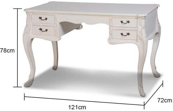 White French Writing Desk with Four Drawers image 3