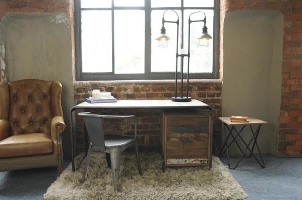 Brooklyn Finest Industrial Desk With Drawers image 5