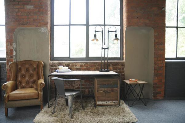 Brooklyn Finest Industrial Desk With Drawers image 7