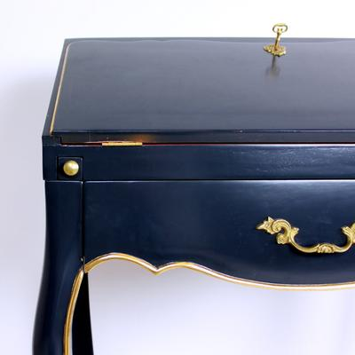 French Secretary Desk in Blue image 2