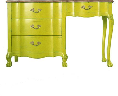 French Blue Desk Four Drawers image 6