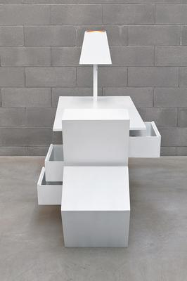 Deconstructed Extendable Desk White