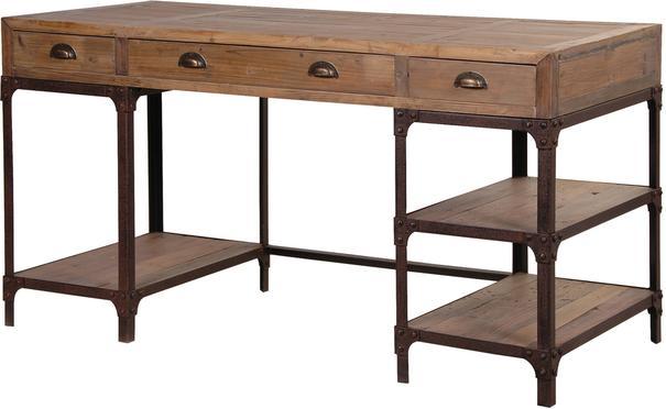 Industrial Pine Desk