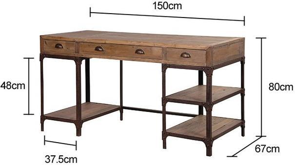 Industrial Pine Desk image 2
