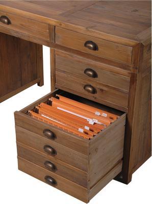 Rustic Pine Keyhole Desk image 3