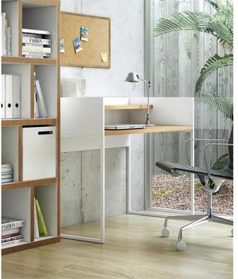 TemaHome Oslo Office Desk Matt White and Oak image 2