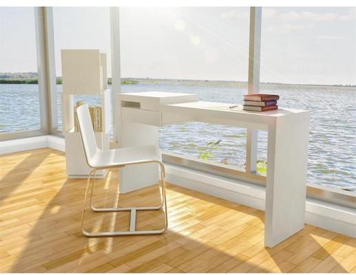 TemaHome Reef Desk Contemporary Matt White Lacquer image 2