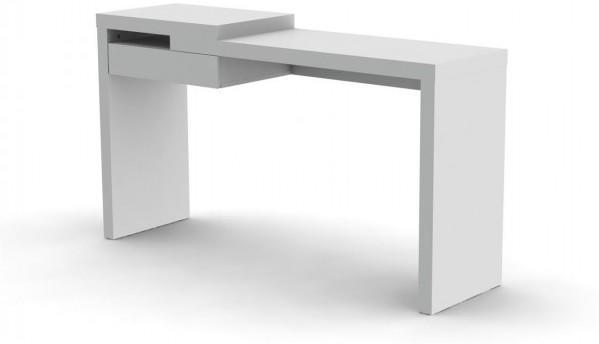 TemaHome Reef Desk Contemporary Matt White Lacquer image 3